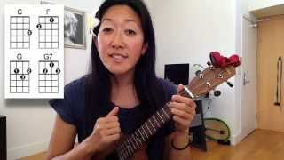 Kiss the Girl Ukulele Play-along with Lyrics
