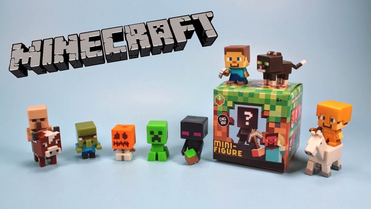 Minecraft Toys And Mini Figures For Kids : Disneyfunbox minecraft blind box mini figures unboxing toy