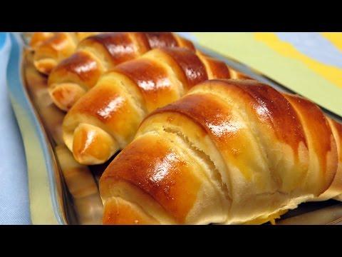 Croissants tipo brioche ou pão de leite