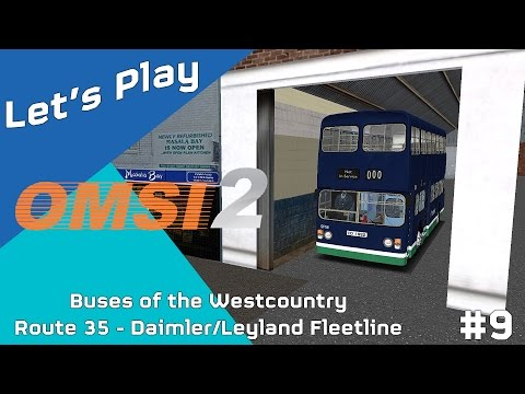 Let's Play OMSI 2 Buses of the Westcountry Map Route 35 Download #9