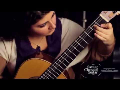 Gohar Vardanyan plays a Michael Cadiz classical guitar at Savage Classical Guitar Studios