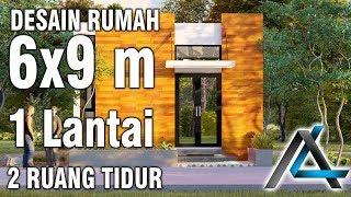 Desain rumah#6x9 meter#2 Ruang tidur#1 Lantai#mungil#