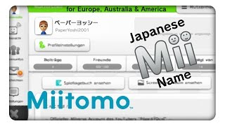 How To Make a Japanese Mii Name (with Miitomo!)