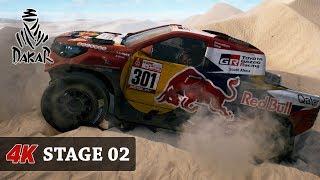 HOT DUNES - DAKAR 18 Rally Game [4K] CARS - FULL Stage 02 (Pisco - PERU) Toyota