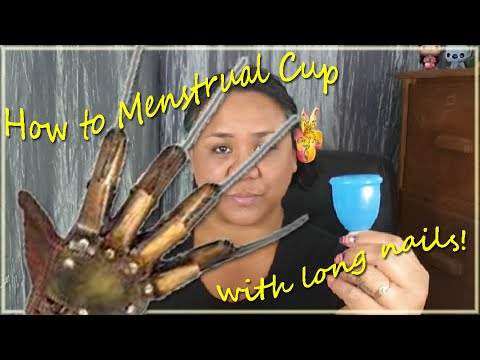 How I deal with Menstrual Cups & Long Nails - Menstrual Cup 101