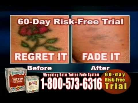 Fade Your Tattoo At Home With Wrecking Balm Youtube