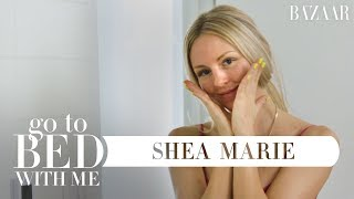 Shea Marie's Nighttime Skincare Routine | Go To Bed With Me | Harper's BAZAAR thumbnail