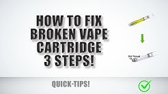 Broken vape cartridge fixed! 510 thread kingpen HACK. (Clogged, error, liquid transfer). THC.  2018