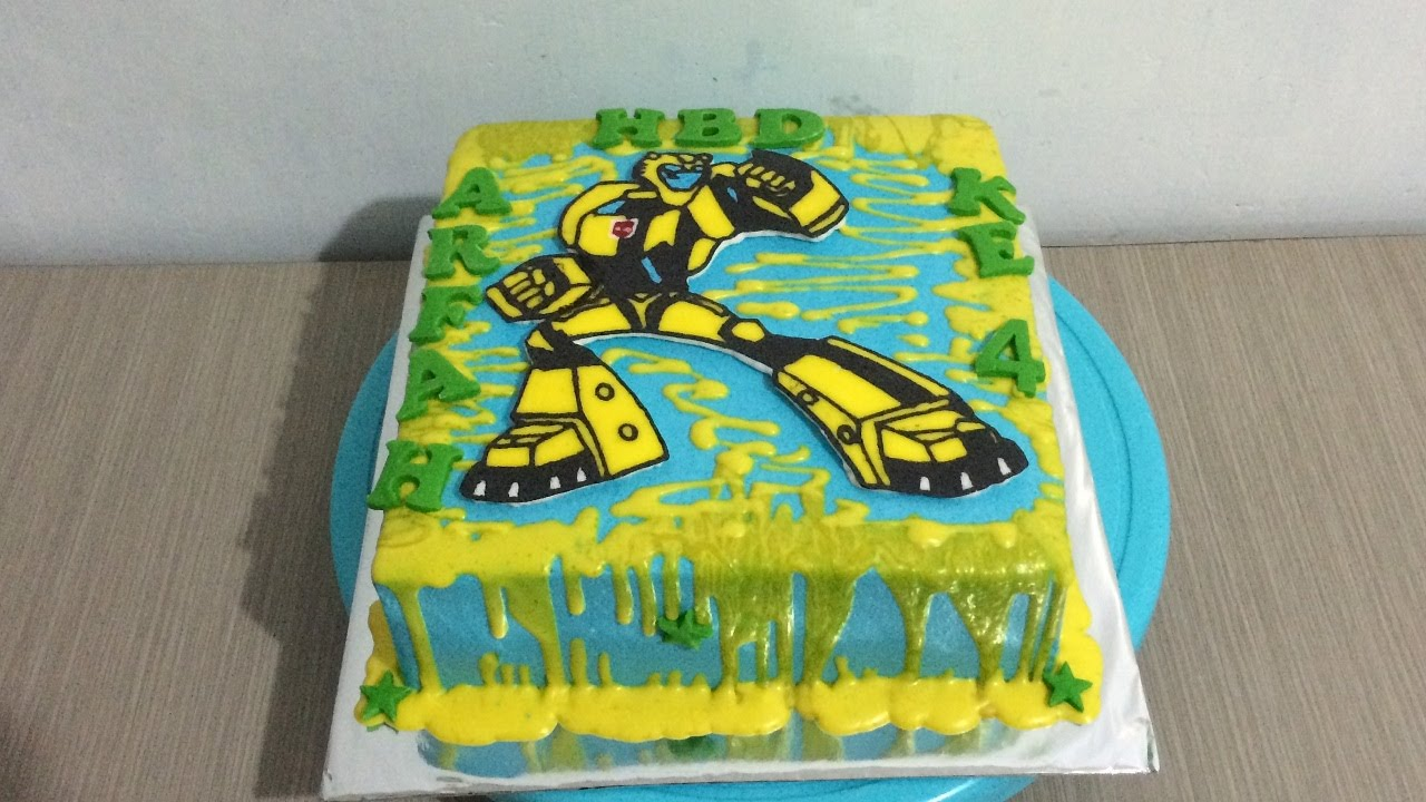 How To Make A Transformer Bumblebee Birthday Cake