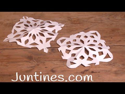 Copitos de nieve de papel, una manualidad decorativa para Navidad