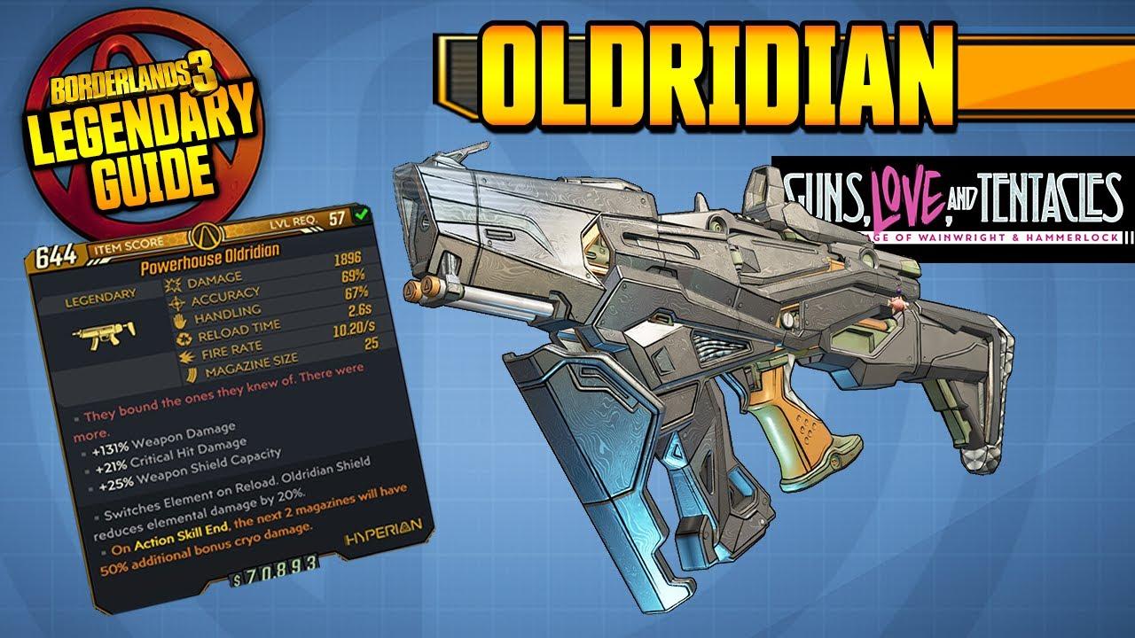 BORDERLANDS 3 | OLDRIDIAN - Legendary Weapons Guide!!! Guns, Love & Tentacles DLC thumbnail