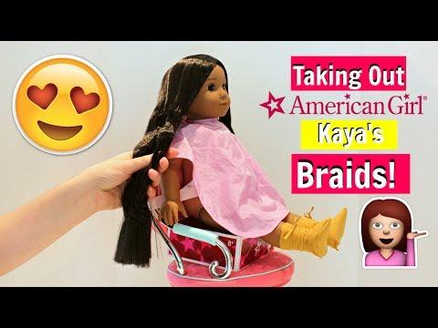 Taking Out Kaya American Girl Doll Braids I Meet Hairstyle