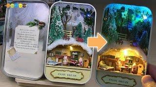 DIY Miniature Dollhouse kit   Snow Dream ミニチュアキット作り スノードリーム