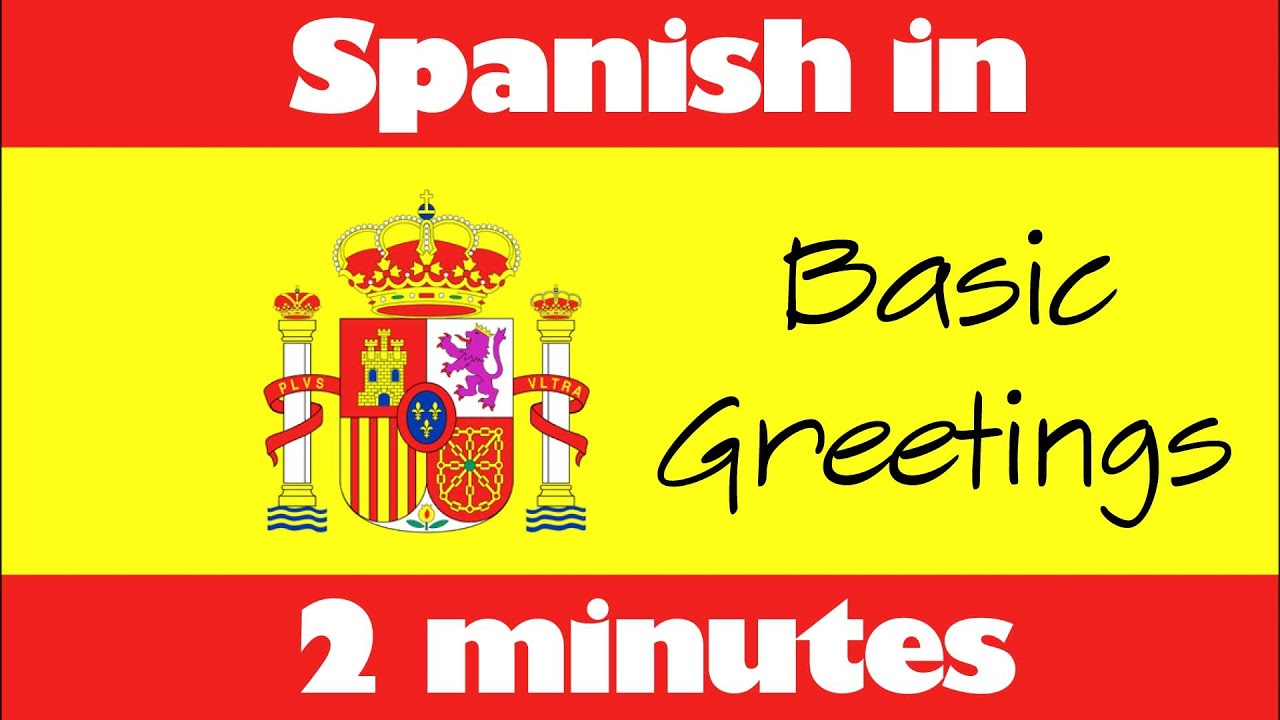 Spanish In 2 Minutes How To Say Basic Greetings In Spanish Youtube