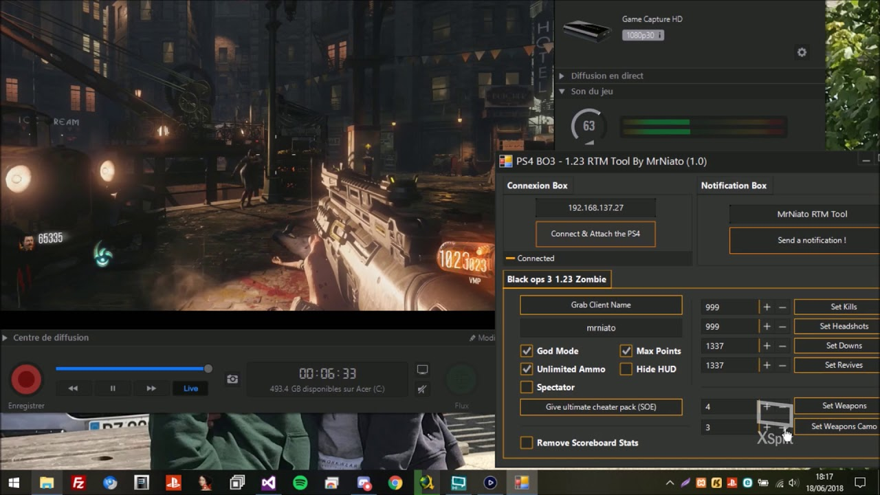 PS4: Black ops III Zombie mode cheat tool released for FW5
