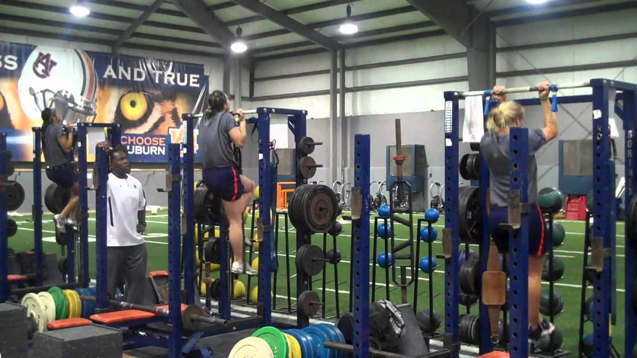 Auburn Softball 10 17 2011 Speed Work Weight Room Competitionwmv