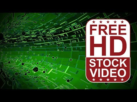 FREE HD video backgrounds - abstract green hi tech digital technology business background
