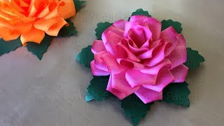 Basteln mit Papier: Rosen basteln - Bastelideen für DIY Geschenke - Origami Rose