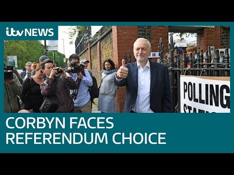 Corbyn's second referendum hint after disastrous EU election results for Labour | ITV News