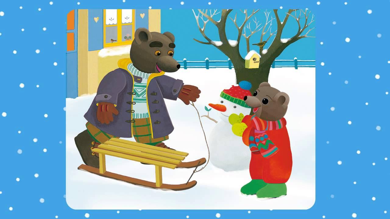 Une histoire de petit ours brun aujourd 39 hui il neige - Petit ours brun a l ecole ...