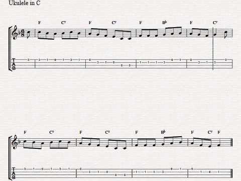 Free Easy Ukulele Tablature Sheet Music Streets Of Laredo Youtube