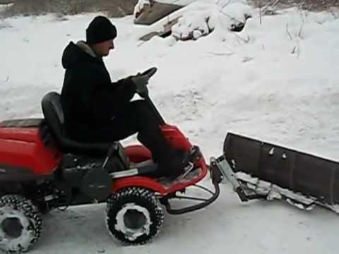 Www Metalurga Lt Husqvarna Rider Snow Blade Youtube