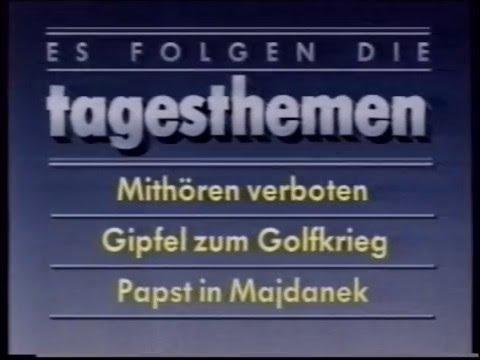 ARD 09.06.1987 Tagesthemen Fragment