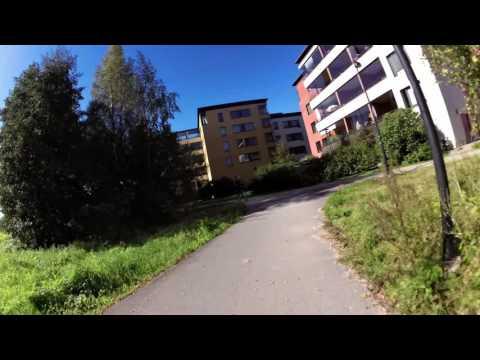 Biking to University Campus in Helsinki