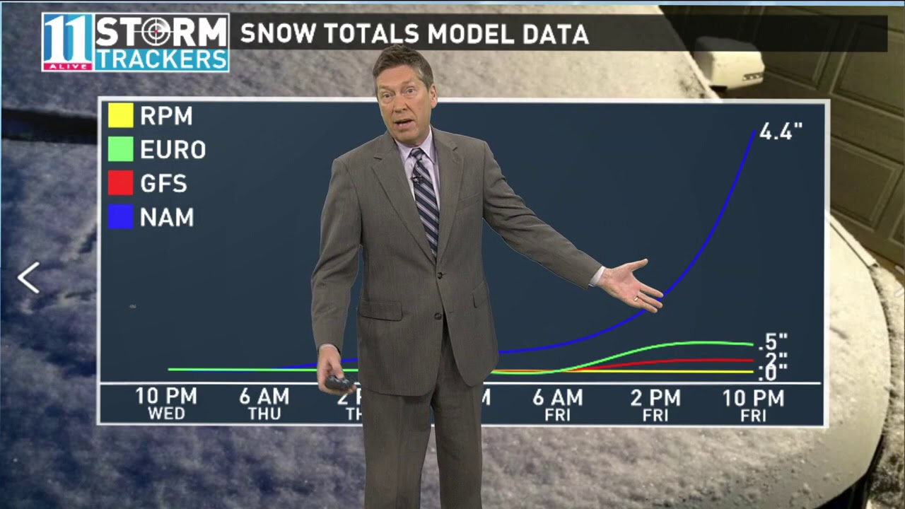 Atlanta meteorologist Chris Holcomb explains how the snow forecast was so  wrong