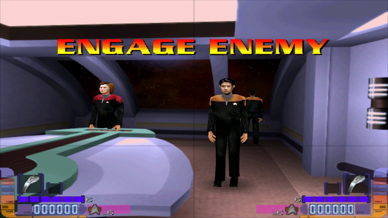 Star Trek Voyager Arcade (Linux Emulation) - Dual Lightgun with Aimtraks