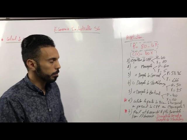 Économie industrielle S6 et microéconomie S2 : séance live 5 : calcul de surplus
