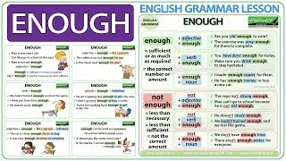 ENOUGH - English grammar lesson