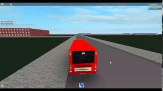 Roblox London Hackney & Limehouse bus simulator on Caetano Nimbus route 309