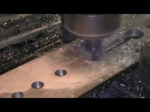 """Excello mill cutting a slot with 1"""" carbide insert endmill"""