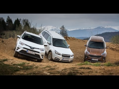 TEST Kia Sportage - Toyota RAV4 Hybrid - Subaru Forester, ENG SUBTITLES !!!