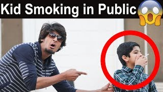Kid Smoking in Public | Social Experiment