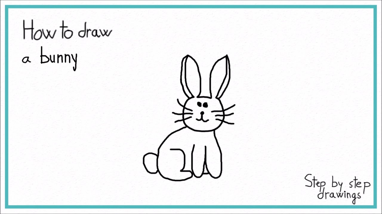 How To Draw A Bunny In 7 Steps Easy!!! Stepbystep Drawings