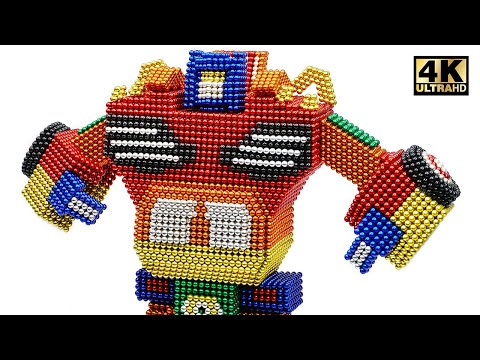 DIY - How To Make Transformer Robot Car From Magnetic Balls ( Satisfying ) | Magnet World 4K