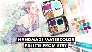 Handmade Watercolor Palette I Bought on Etsy!