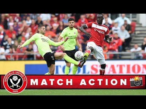 Bristol City 1-0 Blades - match action