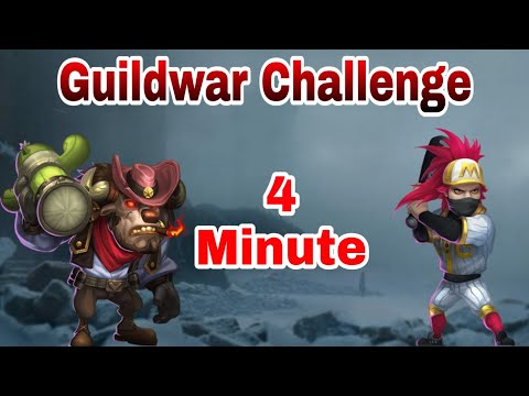 Fastest Guildwar Challenge | Mine 4 Minute | Show Me Urs | Castle Clash