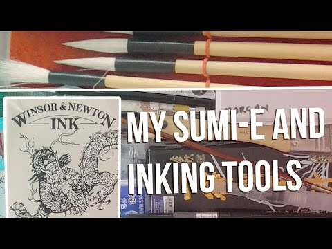 My Japanese Sumi-e Inking Tools & Other Bits!
