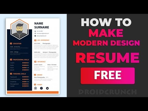 How To Make Modern Design Resume Online In Few Minutes🔥🔥 With Website And Applications