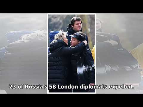Putin's 'spies' expelled by Theresa May board buses home from London