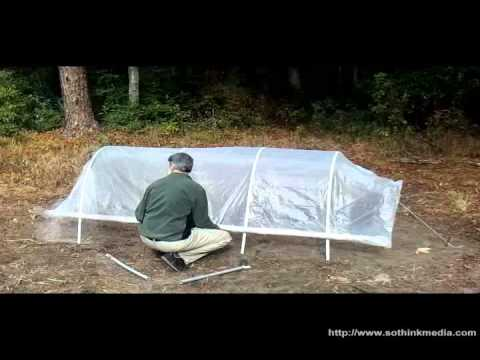 Build A Cheap Portable Hoop House Greenhouse Easiest