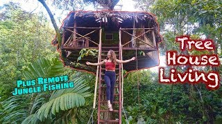 Staying in a Tree House! Plus REMOTE Jungle Fishing Adventures – PANAMA TRAVEL VLOG 3