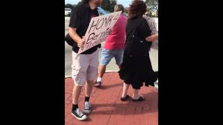 #Trump Supporter Plows into #Bernie Sanders Supporters