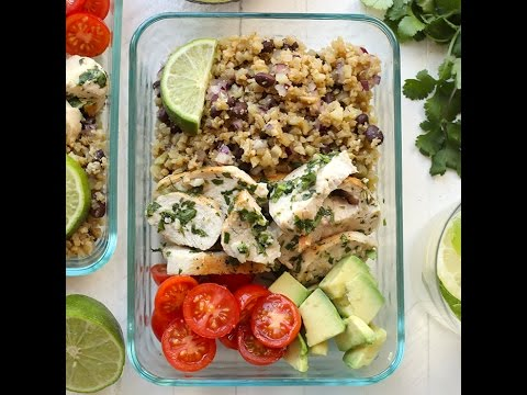 Meal-Prep Cilantro Lime Chicken with Cauliflower Rice
