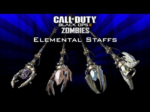Black Ops 2 Origins Zombies How to Craft All 4 Elemental Staffs! Fire, Ice, Wind, & Lighting Staffs