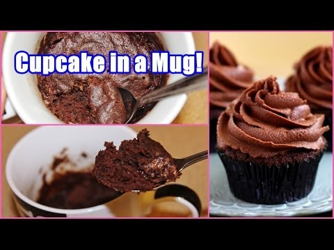 Chocolate cupcake recipe in microwave